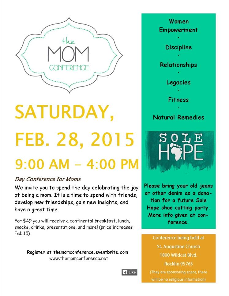 2015 mom conference flyer
