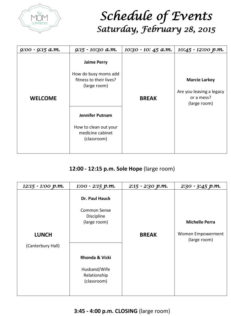 Conference agenda 2015 correct